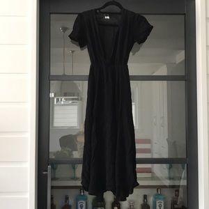 Black reformation midi dress